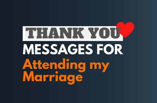 Thank You Messages For Attending My Wedding